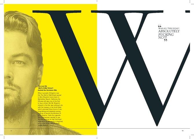 Graphic Design Editorial Spread