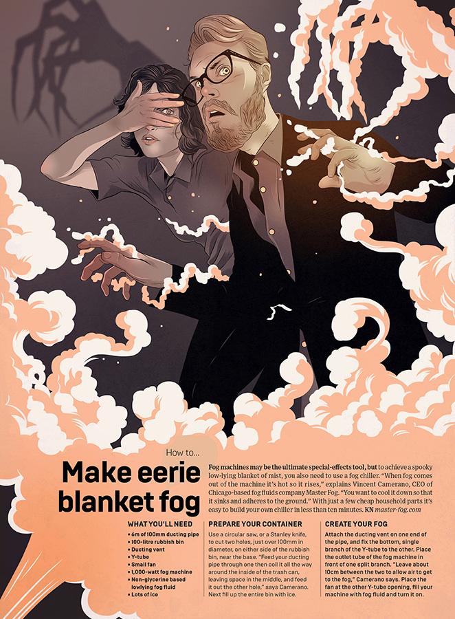 Wired Magazine - Fog Machine - Wells Illustration